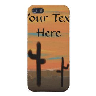 Coque iPhone 5 Peinture de cactus de désert