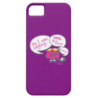 Coque iPhone 5 Petite Mlle Chatterbox et téléphone