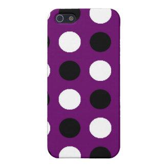Coque iPhone 5 Point de polka pourpre foncé