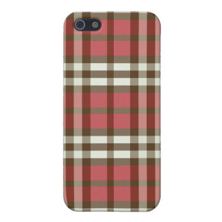 Coque iPhone 5 Rouge/plaid Pern de chocolat