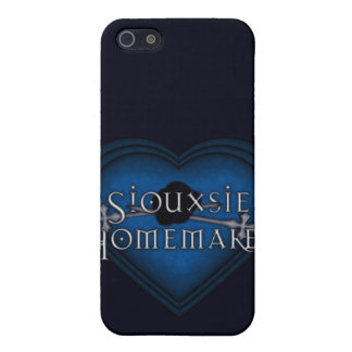 Coque iPhone 5 Tricot bleu de ménagère de Siouxsie