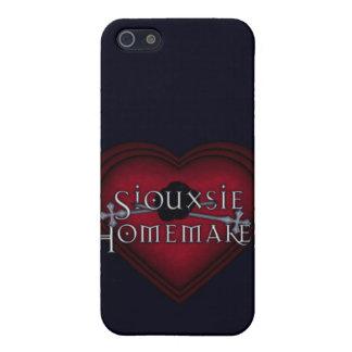 Coque iPhone 5 Tricot rouge de ménagère de Siouxsie