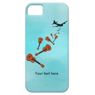 Coque iPhone 5 Ukulélés se laissant tomber de et avion