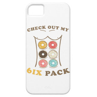 Coque iPhone 5 Vérifiez ma chemise de beignet de paquet de six