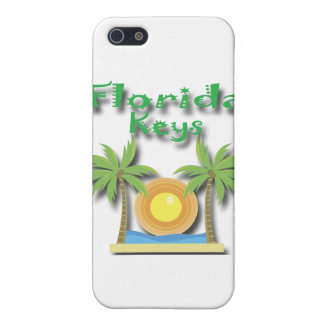 Coque iPhone 5 Vert de paumes de clés de la Floride