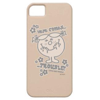 Coque iPhone 5 Voici venir petite Mlle Trouble