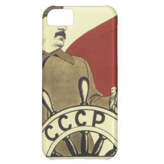 Coque iPhone 5C Affiche communiste vintage russe de propagande