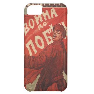 Coque iPhone 5C Affiche vintage russe de propagande