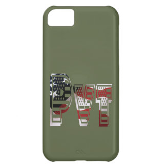 Coque iPhone 5C Américain militaire privé Pvt de vert d'armée des