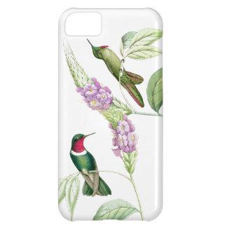 Coque iPhone 5C Animaux floraux de faune de fleurs d'oiseaux de