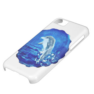 Coque iPhone 5C Art d'animal de mer sautant le dauphin