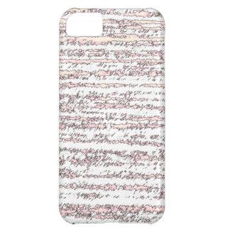 Coque iPhone 5C Blanc avec le regard déchiré par rose