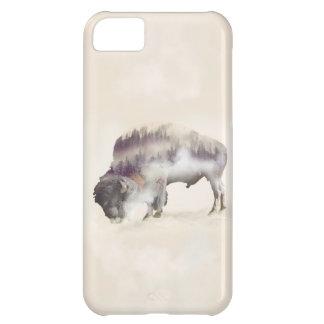 Coque iPhone 5C Buffle-double buffle-paysage exposition-américain