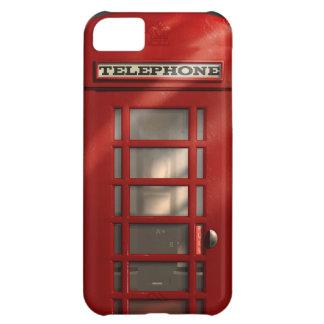 Coque iPhone 5C Cabine téléphonique rouge britannique vintage