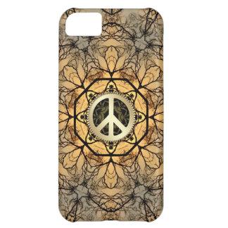 Coque iPhone 5C Caisse d'or de l'iPhone 5 de signe de paix de