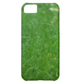 Coque iPhone 5C Cas de téléphone portable d'herbe verte pour le