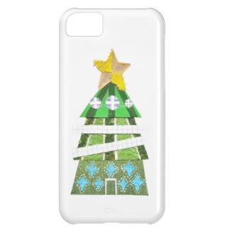 Coque iPhone 5C Cas d'IPhone 5C d'hôtel d'arbre de Noël
