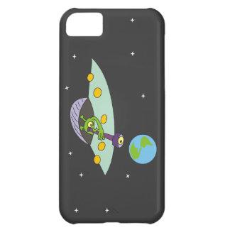 Coque iPhone 5C Cas drôle de l'iPhone 5 de bande dessinée d'alien