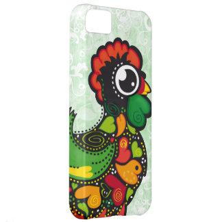 Coque iPhone 5C Cas floral de l'iphone 5 de coq de Barcelos Kawaii