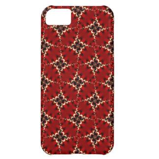 Coque iPhone 5C Cas rouge-foncé de l'iPhone 5 de motif de remous