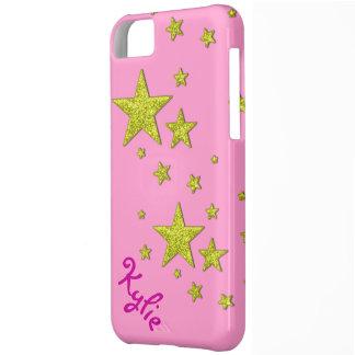 Coque iPhone 5C cas scintillant de couverture de l'iphone 5 d'or