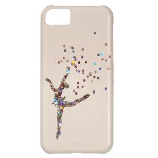 Coque iPhone 5C Cas scintillant de danseur
