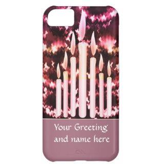 Coque iPhone 5C Célébrations : Bougies d'espace des cadeaux n pour