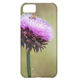 """Coque iPhone 5C """"Chardon avec la collection d'abeille"""""""