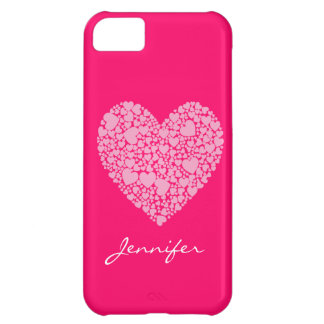 Coque iPhone 5C Coeurs dans un Coeur-Rose
