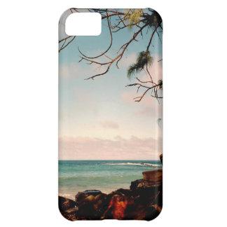 """Coque iPhone 5C Collection """"de plage noire de roche de Maui"""""""
