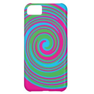 Coque iPhone 5C Conception abstraite colorée de soleil