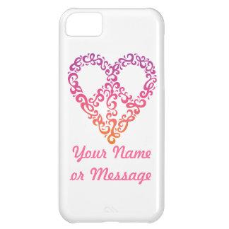 Coque iPhone 5C Couverture de l'iPhone 5 de Paix-Coeur