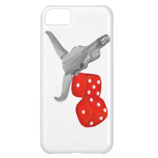 Coque iPhone 5C Crâne de vache et matrices de merdes de joueurs