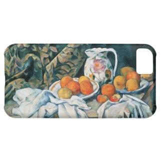 Coque iPhone 5C De Cezanne toujours rideau en vie, broc fleuri,