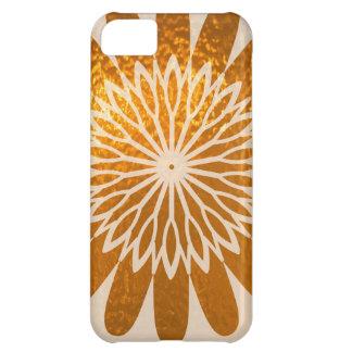 Coque iPhone 5C Décoration d'or d'ART de tournesol