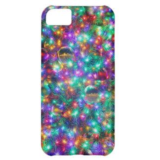 Coque iPhone 5C Étoiles de scintillement de Noël de luxe