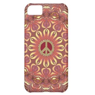 Coque iPhone 5C Fleur de Bohème de paix de cas de l'iPhone 5 de la