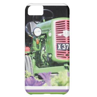 Coque iPhone 5C Fleurs vintages de tracteur