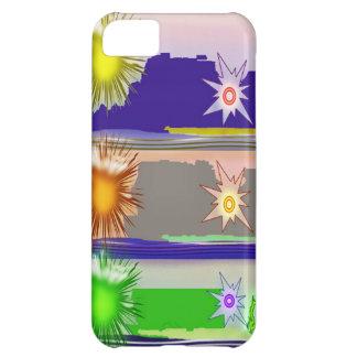 Coque iPhone 5C Graphiques de magie d'étoile du SOLEIL
