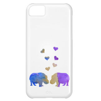 Coque iPhone 5C Hippopotames