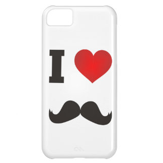 Coque iPhone 5C I moustache de coeur