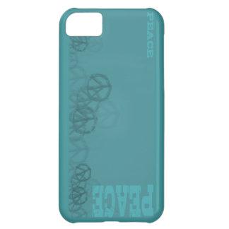 Coque iPhone 5C iPhone turquoise de paix 5 cas