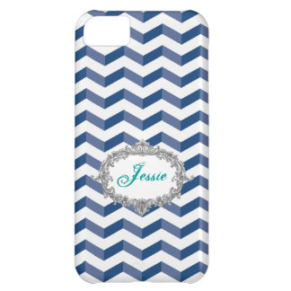 Coque iPhone 5C la caisse bleue de l'iPhone 5 de /White des