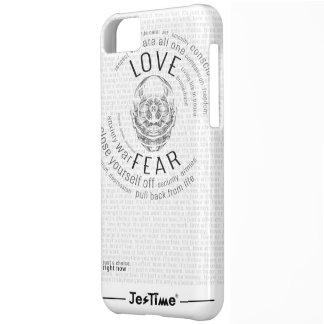 Coque iPhone 5C L'amour ou la crainte de cm //est un choix