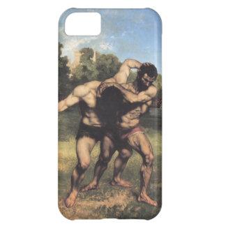 Coque iPhone 5C Les lutteurs