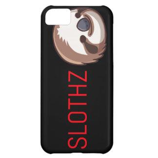 Coque iPhone 5C Lettres noires de rouge de cas de paresse