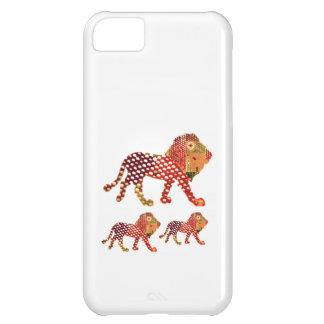 Coque iPhone 5C LION - ROI majestueux des animaux