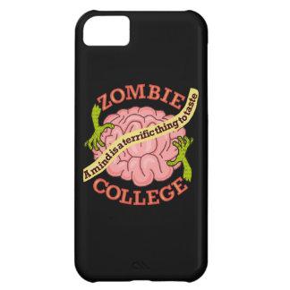 Coque iPhone 5C Logo drôle d'université de zombi