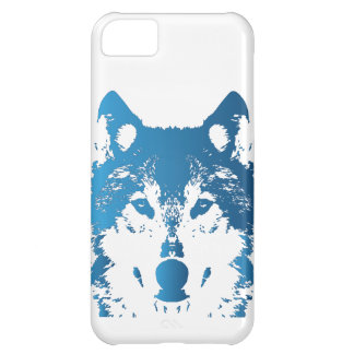 Coque iPhone 5C Loup de bleu glacier d'illustration