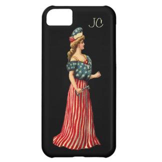 Coque iPhone 5C Madame victorienne vintage Flag Draped - iPhone 5